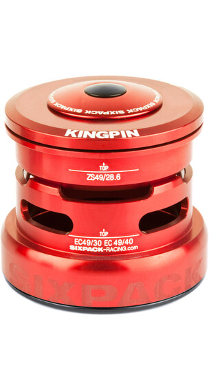 Sixpack Kingpin 2In1 Balhoofdlager ZS49/28.6 I EC49/30 and ZS49/28.6 I EC49/40 rood